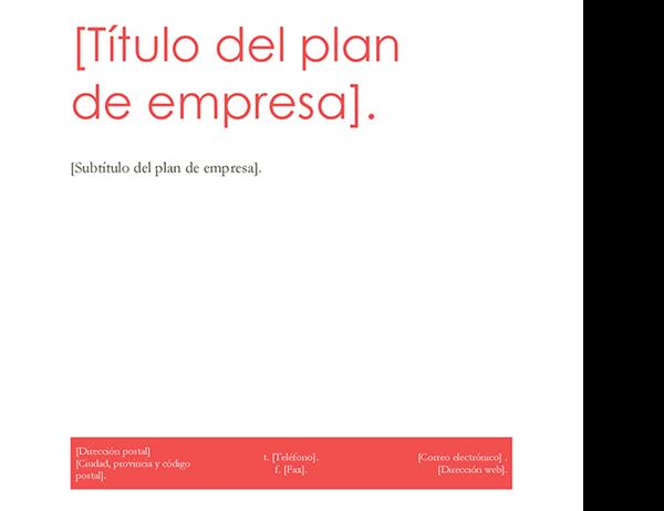 Plan de negocios rojinegro
