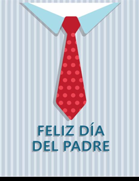 Tarjeta de felicitación del Día del Padre (con motivos de pesca; se dobla en cuatro partes)