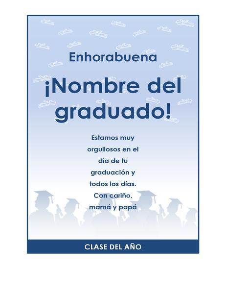 Prospecto de felicitaciones de graduación (diseño de fiesta de graduación)