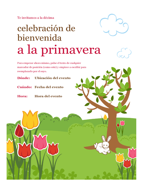 Folleto de primavera