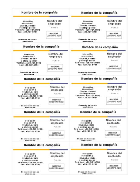 Tarjeta de presentación (Tema de nivel)