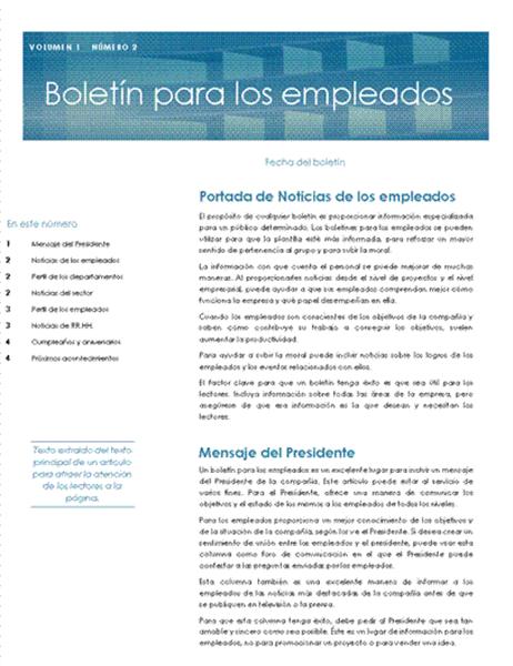 Boletín para los empleados