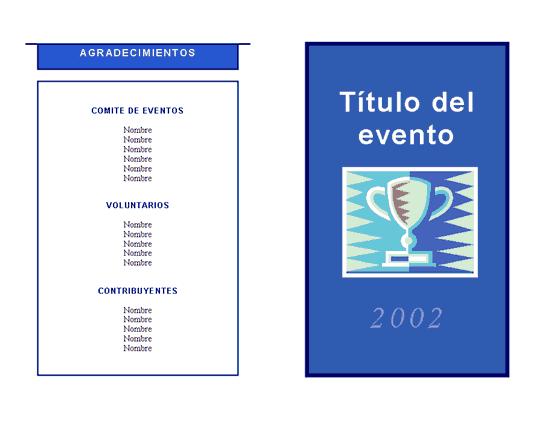 Programa de eventos general
