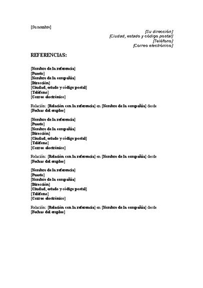 Lista de referencia