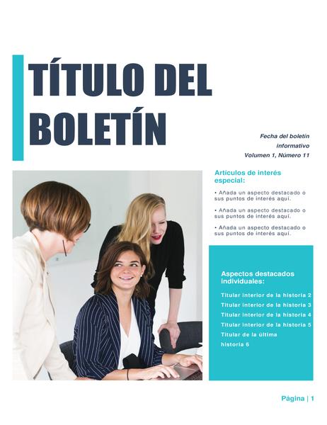 Boletín (diseño sencillo, 4 col., 6 PP).
