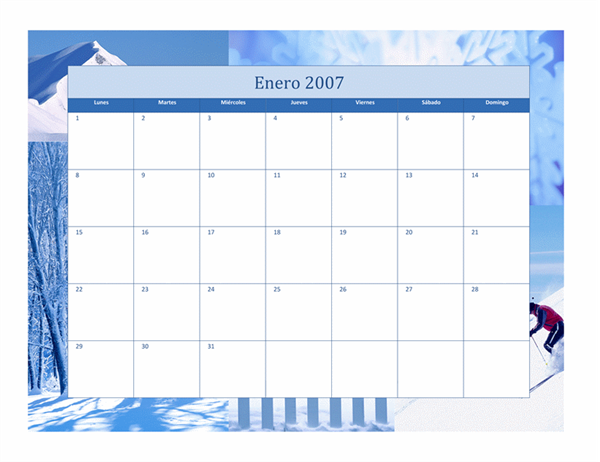 Calendario 2007 (12 pp., diseño Estacional)