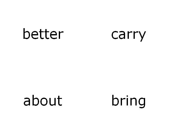 Tarjetas de aprendizaje de vocabulario (terceras palabras visuales de Dolch; funciona con Avery 3263, 8387)