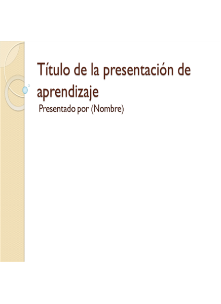 Presentación de formación: general