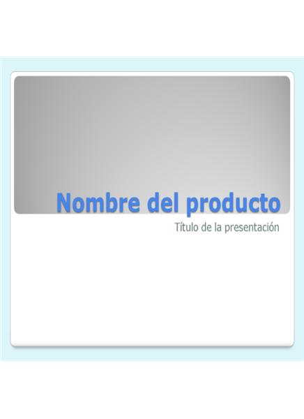 Presentación de descripción de producto