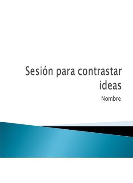 Presentación sobre búsqueda de ideas