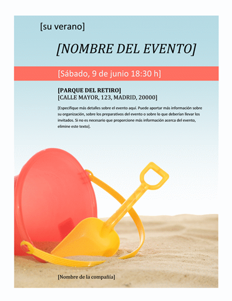 Folleto de evento de verano