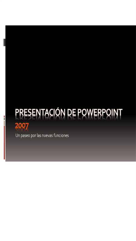 Introducción a Microsoft® Office PowerPoint® 2007