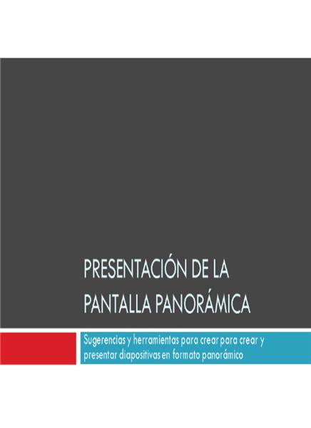Presentación panorámica