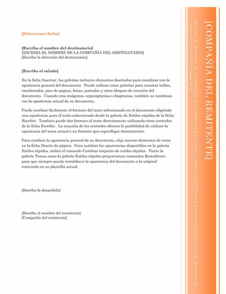 Carta (diseño Mirador)