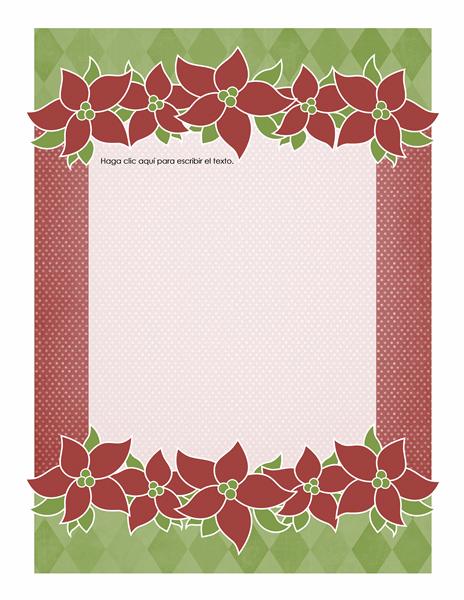 Diseño de fondo de vacaciones (diseño de flor de pascua)