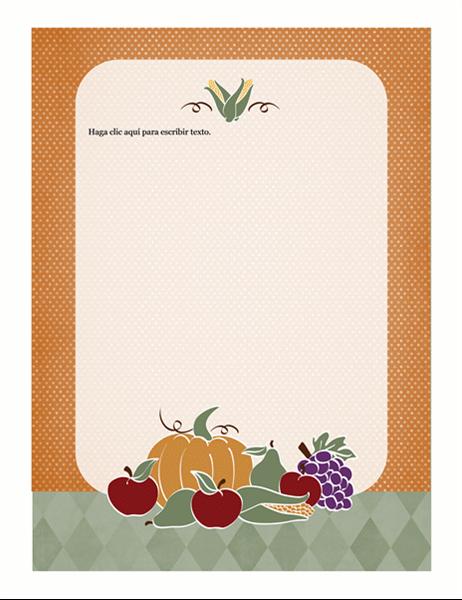 Diseño de fondo (diseño con alimentos)