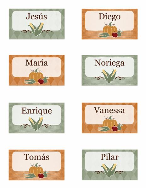 Tarjetas de lugares (diseño de cosecha)