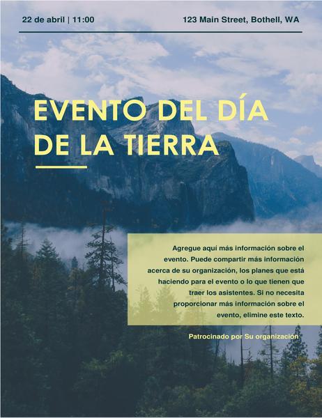Folleto de eventos para el Día de la Tierra