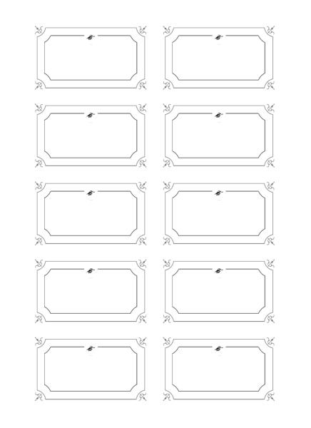 Tarjetas de graduación con nombre (diseño formal en blanco y negro)