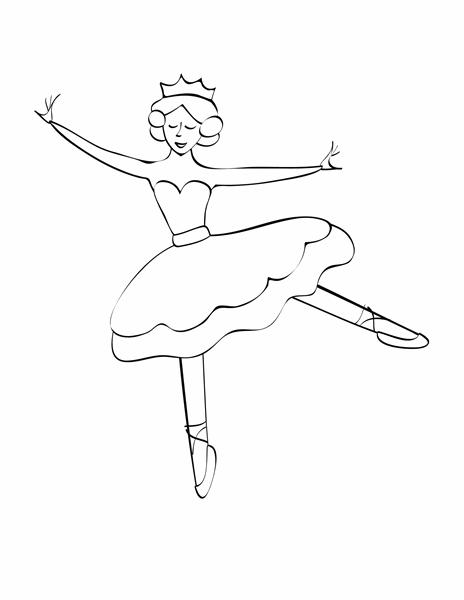 Hoja para colorear (diseño de bailarina)