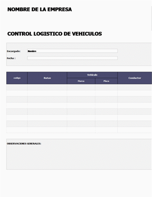 Control de vehículos