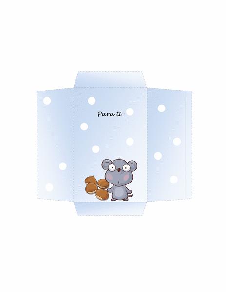 Sobre de dinero (diseño de ratón)