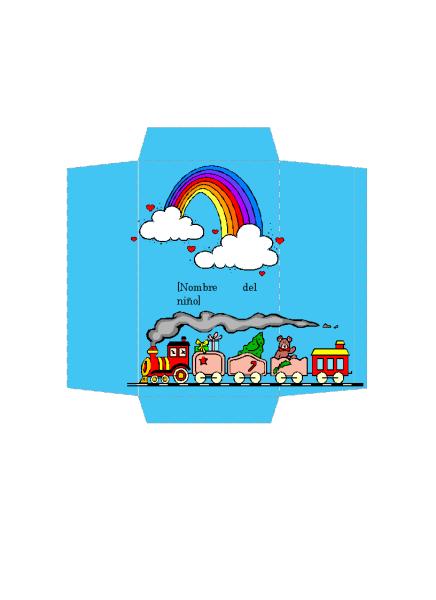 Sobre de dinero (diseño de tren de juguete)