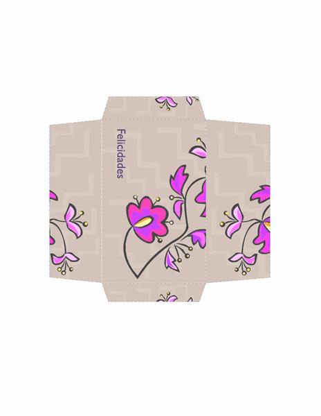 Sobre de dinero (diseño floral)