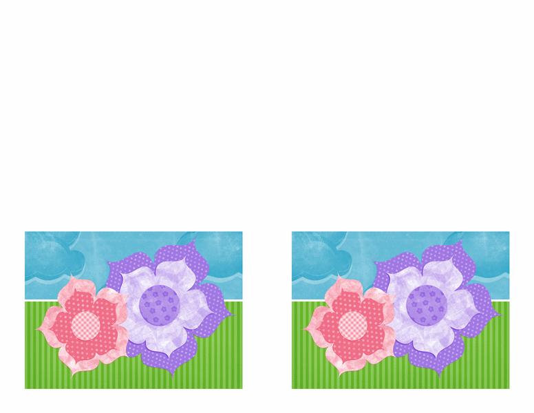 Invitación a una fiesta (diseño floral)