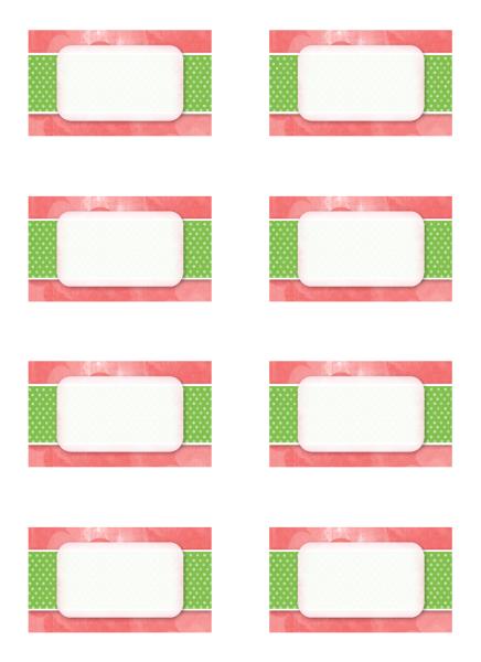 Tarjetas de lugares de fiestas (diseño floral, 8 por pág.)