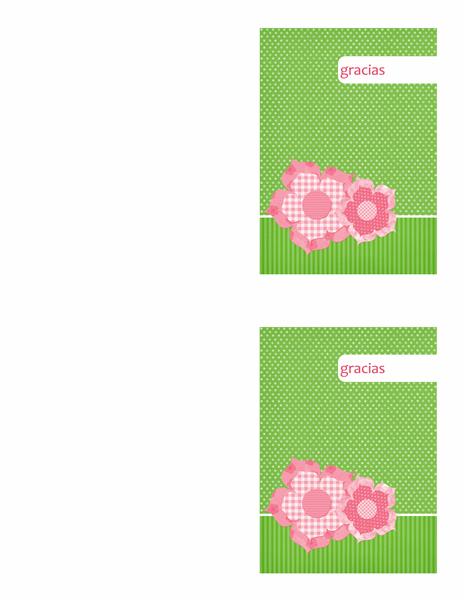 Tarjeta de agradecimiento (diseño floral)