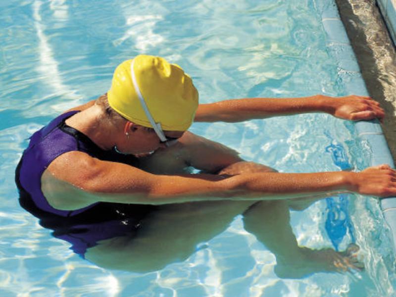 Plantilla de diseño de natación para los juegos de verano 2008