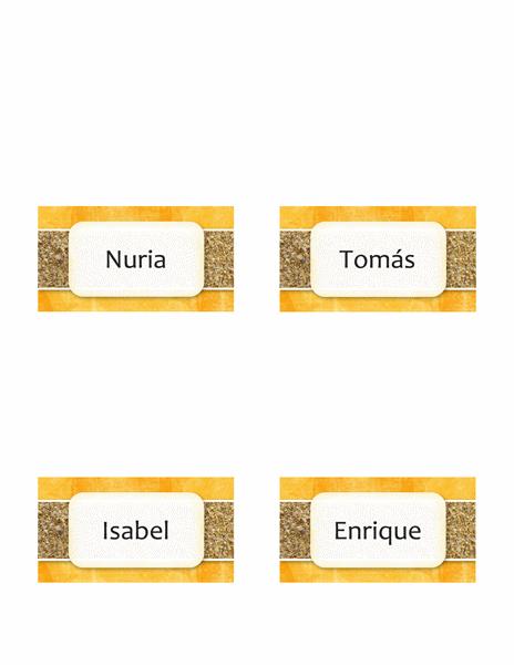 Tarjetas personales o de lugares (diseño de sol y arena y estilo plegable)