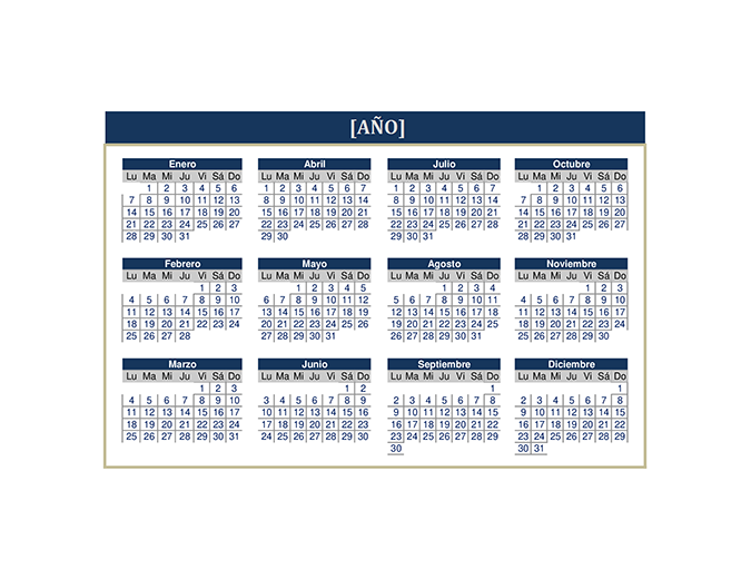 Calendario (cualquier año)