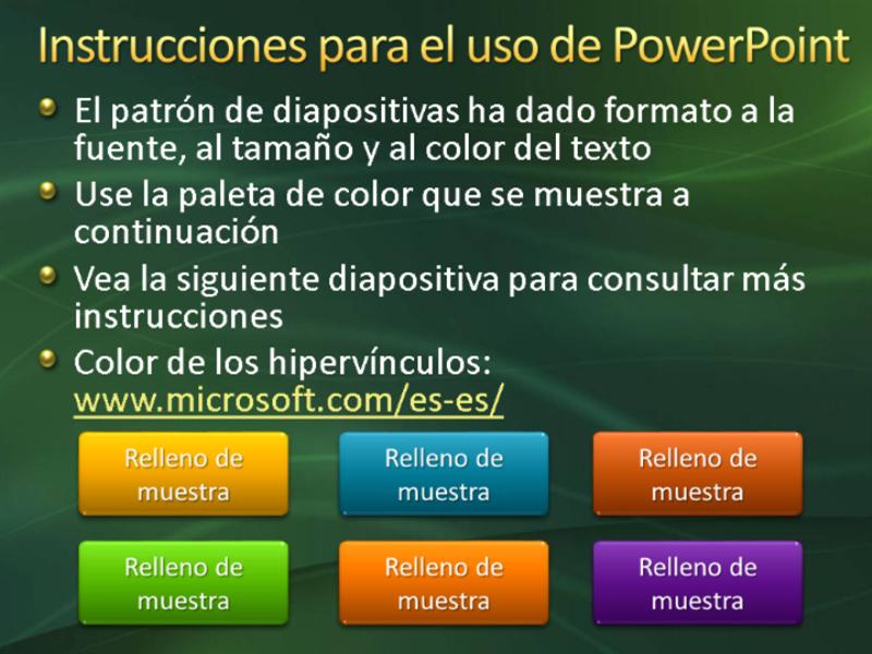 Diapositivas de presentación de muestra (diseño de remolinos verdes)