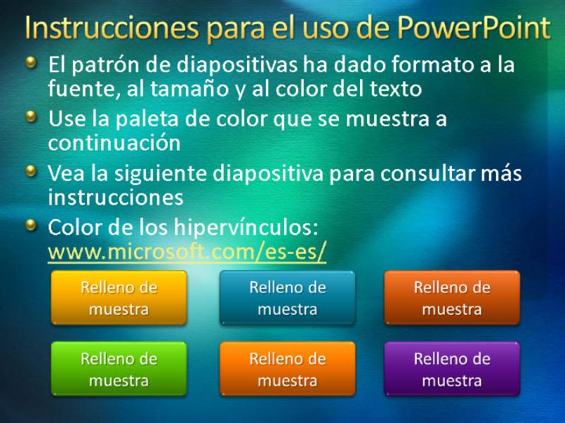 Diapositivas de presentación de muestra (diseño con textura en verde)
