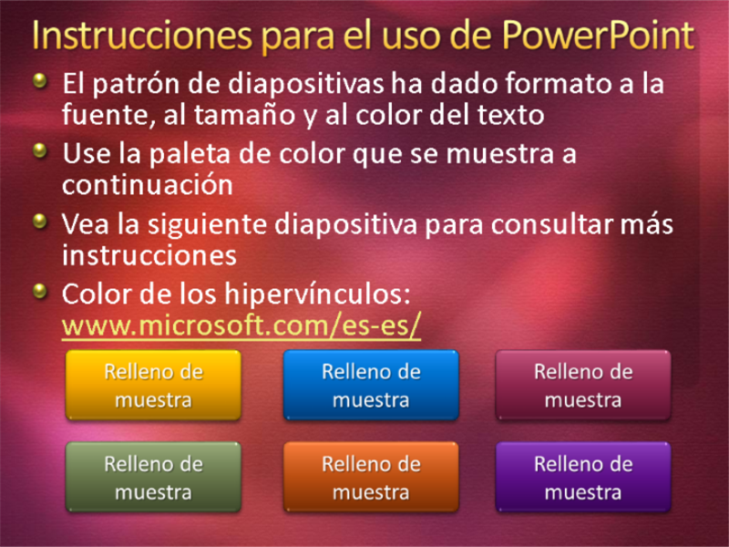 Diapositivas de presentación de muestra (diseño con textura en rojo granate)