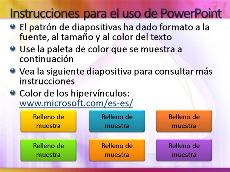 Diapositivas de presentación de muestra (blanco con diseño amarillo-magenta)