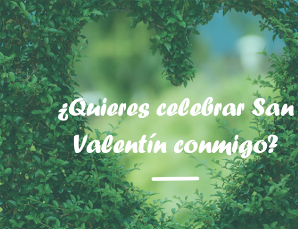 Tarjeta para el Día de San Valentín (díptico)