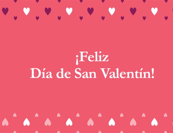 Tarjeta para el Día de San Valentín (cuadríptico)