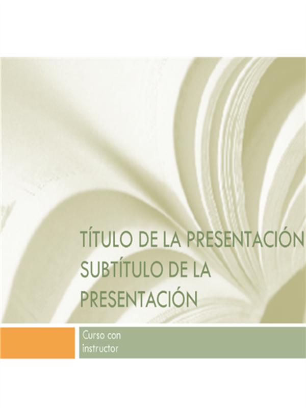 Presentación académica para cursos universitarios (diseño de libro de texto)