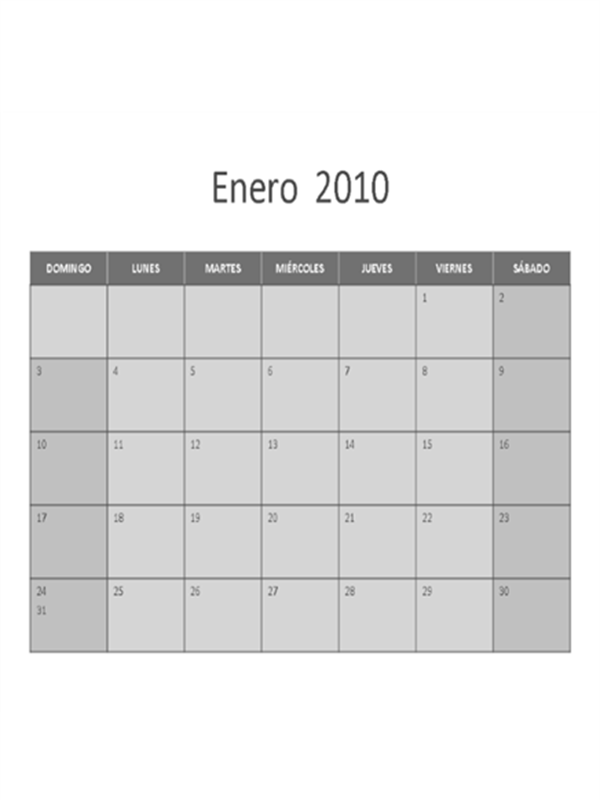 Calendario de 2010
