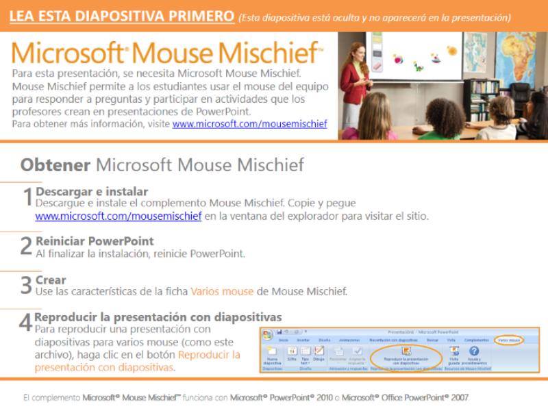 Álgebra con Mouse Mischief