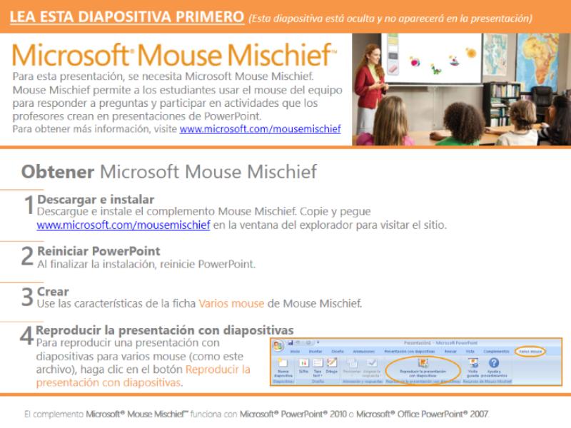 Redes de geometría con Mouse Mischief