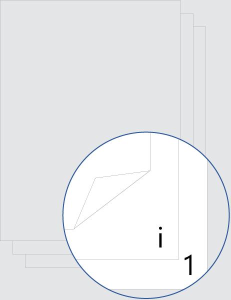 Numeración de página de presentación