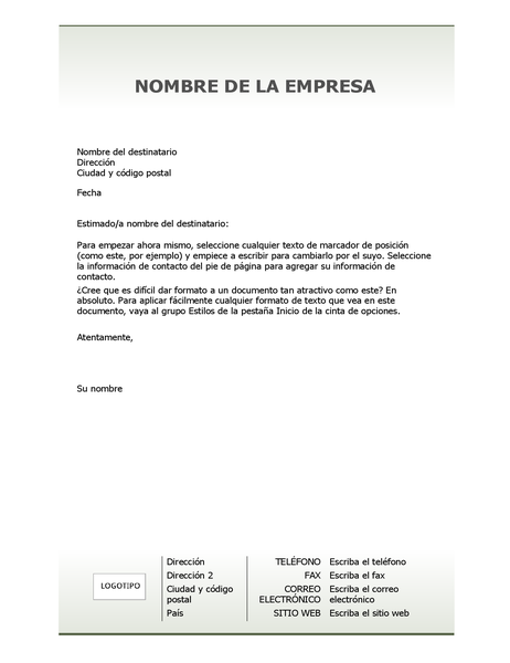 Papel carta de membrete de empresa (diseño Simple)