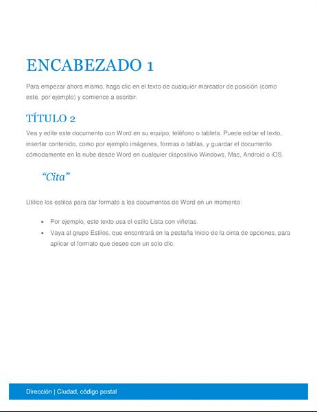 Documento empresarial