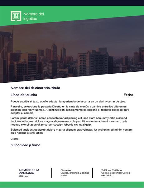 carta de negocios diseo de bosque verde
