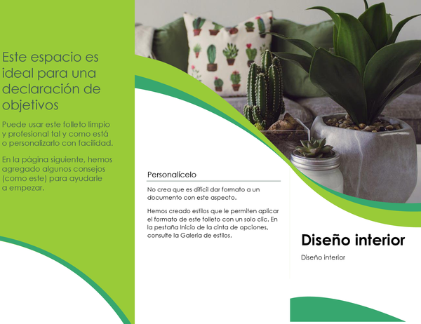 Folleto de diseño interior