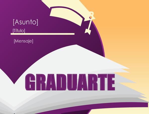 Tarjeta de felicitación para graduados